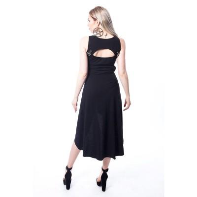 Foto van Jurk Stellar, zwart met corset details en gespen