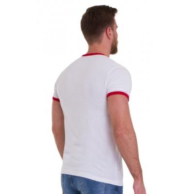 Foto van T-shirt Retro Wit met regenboogbaan