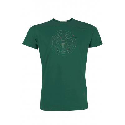 Green Bomb | T-shirt groen Outer Space Record bio katoen