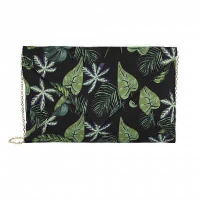 Clutch Esty Black Forest, zwart groen