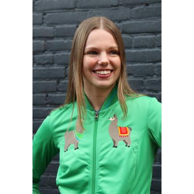 Foto van ATO Berlin | Sportjas Anne, lentegroen met alpaca borduursels