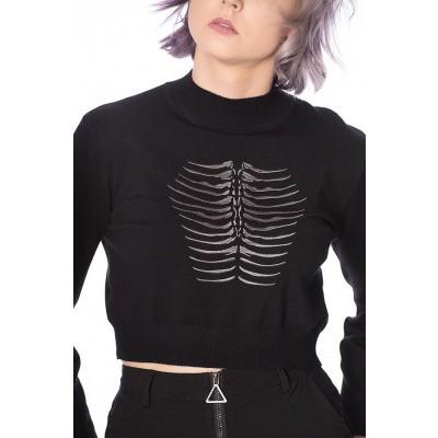 Foto van Trui Fossil, cropped model, zwart