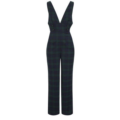 Foto van Collectif Jumpsuit Sophi, blackwatch tartan