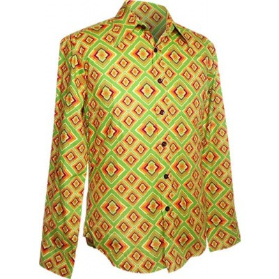 Overhemd retro, Rhombus licht groen