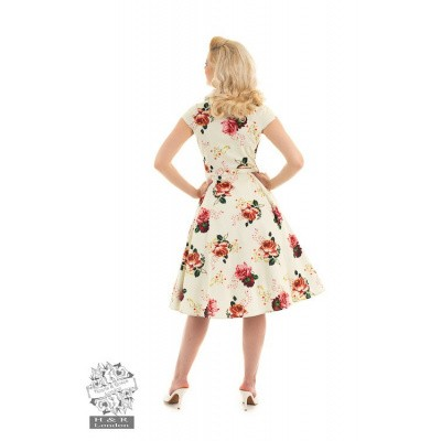 Foto van Hearts & Roses - Swing jurk Delilah met rozen print
