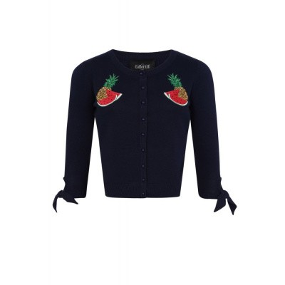 Foto van Cardigan Sally Tropical Fruit, navy