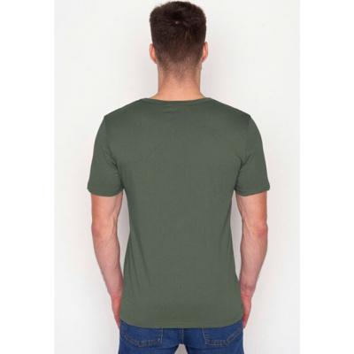 Foto van Green Bomb | T-shirt olijfgroen Bike Lauft bio katoen
