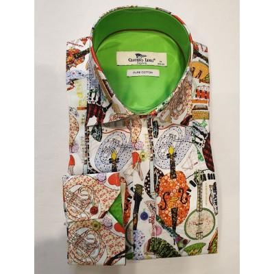 Claudio Lugli, overhemd met Cartoon instrumenten print