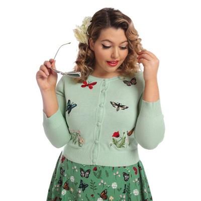 Cardigan Abigail Butterfly, licht groen