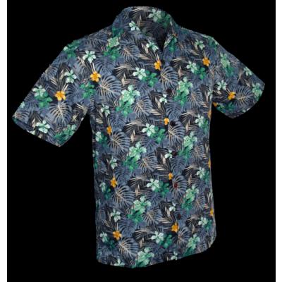 Overhemd korte mouw, fern navy
