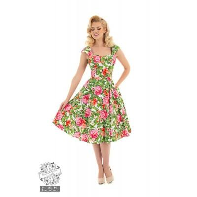Hearts & Roses - Swingjurk Penny, met roze rozen