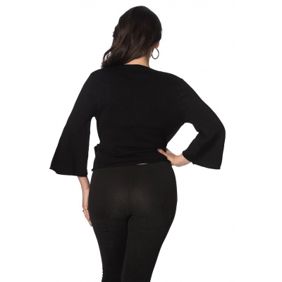 Foto van Banned, cardigan Wrap, zwart wikkel-model