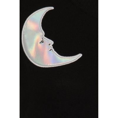 Foto van Cardigan Lucy moon and stars, zwart