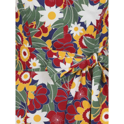 Foto van Collectif   Jurk Jayleen 60's met tropische bloemen