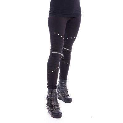 Foto van Legging Wind, met zilverkleurige details, zwart