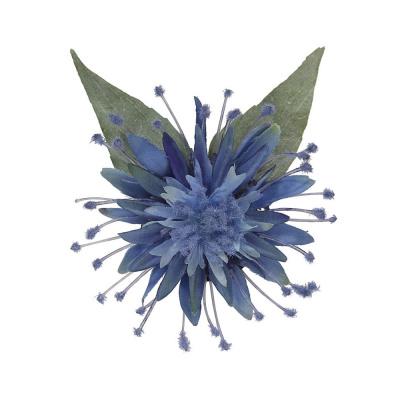 Foto van Collectif - Haarbloem en broche Elma, blauwe bloem