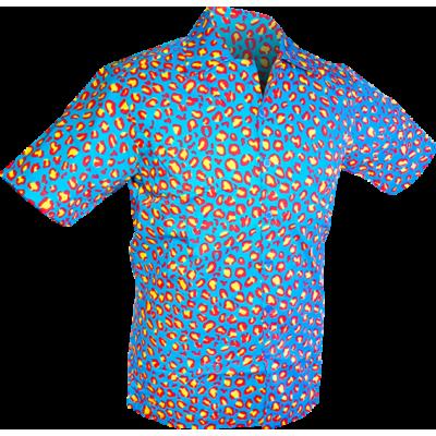 Foto van Overhemd korte mouw, Coloured leo