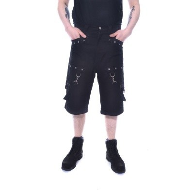 Korte broek Santtu zwart met straps