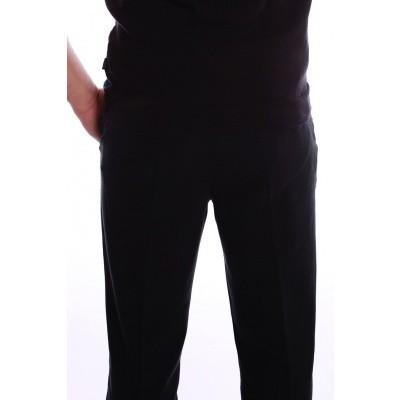 Foto van Pantalon Jorjo, zwart ruige katoen