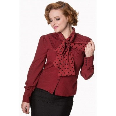 Blouse sent with love tie bordeaux