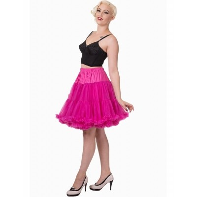 Petticoat Walkabout Knielang met extra volume, hot pink