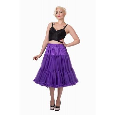 Petticoat Starlite over de knie met extra volume, paars