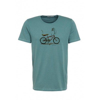 Foto van T-shirt Bike Banana, bio katoen dirty blue