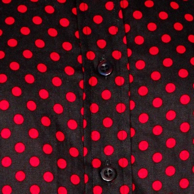 Foto van Chenaski | dames blouse Polka Dots, zwart rood
