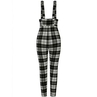 Foto van Collectif | High-waisted broek Karen Monochrome met bretels