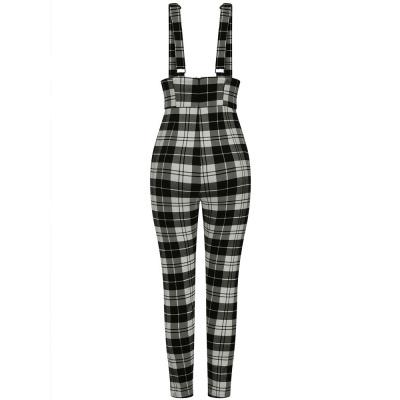Foto van Collectif | High-waisted broek Karen Monochrome met bretels