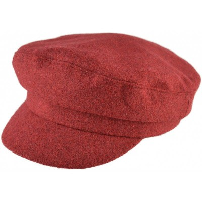 Captain style pet, burgundy wollig