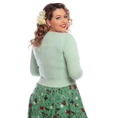 Foto van Cardigan Abigail Butterfly, licht groen
