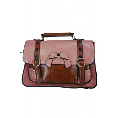 Foto van Handtas Retro Buckle With Bow, roze