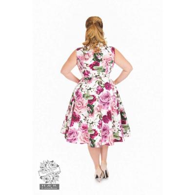 Foto van Hearts & Roses   Alice Queensize, swing jurk met roze rozen
