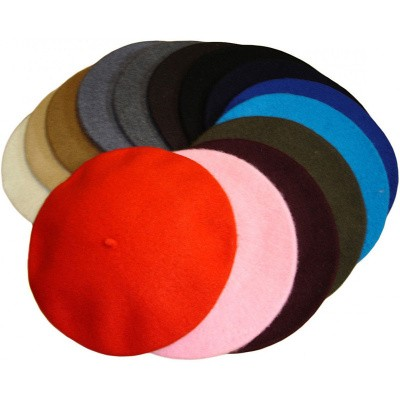 Foto van Klassieke baret van wol, donkerblauw