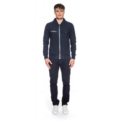 Foto van ATO Berlin, sportieve jas Every, ruitjespatroon, blauw bruin