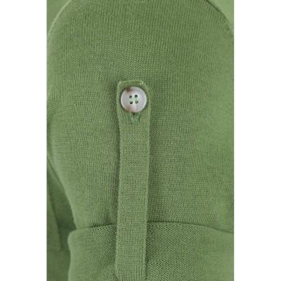 Foto van Polo Jorge, effen met knopen en borstzakje, groen