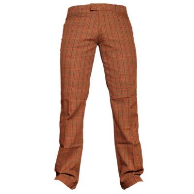Foto van Chenaski | Rechte pantalon met bruin rode Scot ruit