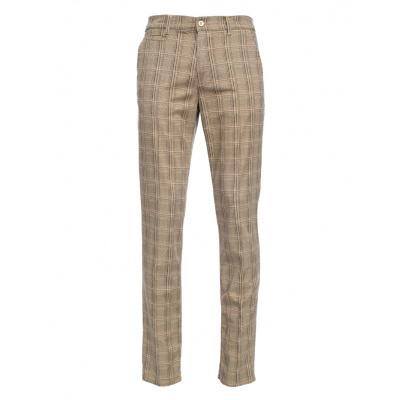 simsalabimwebshop-46200-ATO Berlin, pantalon Jorjo, bruin beige geruit