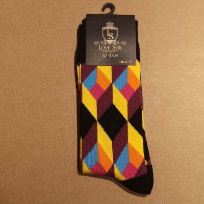 Foto van Love Sox | Kleurrijke 3D diepte sokken