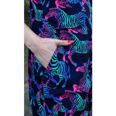 Foto van Run & Fly | Tuinbroek met rainbow zebra, unisex