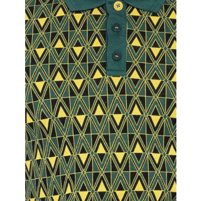 Foto van ATO Berlin | Polo Enzio, jacquard patroon, groen geel