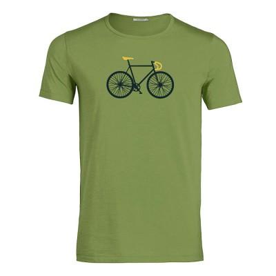 Foto van Green Bomb - T-shirt Bike free, bio katoen licht groen