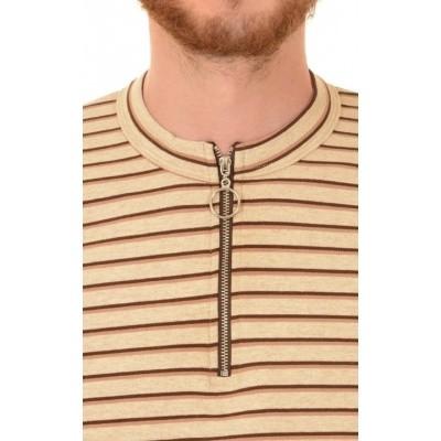 Foto van Shirt met lange mouwen gestreept retro ecru