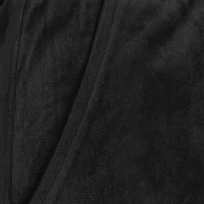 Foto van Broek Lucy zwart fluweel, ruimvallend model