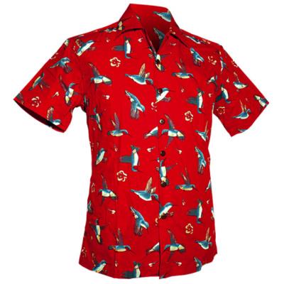 Foto van Chenaski | Overhemd korte mouw, Colibri rood