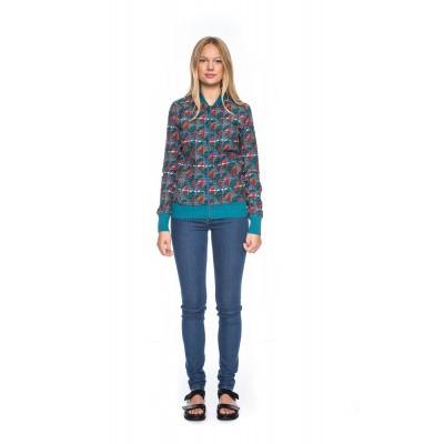 Foto van Sportjas Bebe, met jaquard patroon, turquoise