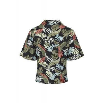 Foto van Collectif, Shirt top Sue tropical palm
