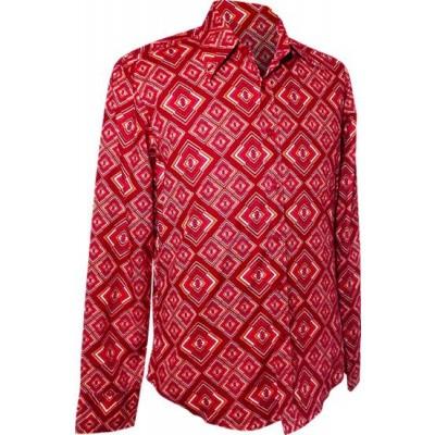 Chenaski | overhemd seventies, Rhombus rust
