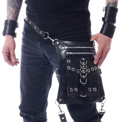 Heuptas Solice, zwart met metalen details